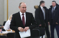 Президент РФ, кандидат на пост президента РФ Владимир Путин