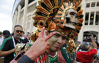 Болельщик сборной Мексики в Москве A Mexico football fan gestures ahead of the group F match between Germany and Mexico at the 2018 soccer World Cup in the Luzhniki Stadium in Moscow, Russia, Sunday, June 17, 2018. (AP Photo/Alexander Zemlianichenko)