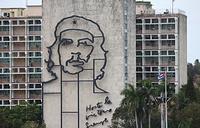 Изображение Эрнесто Че Гевары на здании министерства внутренних дел Кубы