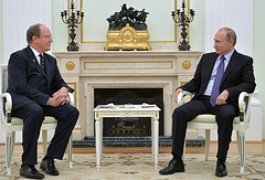 Prince Albert II of Monaco and Russian President Vladimir Putin