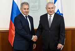 Russian Defense Minister Sergey Shoigu and Israeli Prime Minister Benjamin Netanyahu