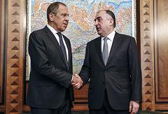 Russian and Azerbaijani foreign ministers, Sergey Lavrov and Elmar Mammadyarov