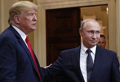 US President Donald Trump and Russian leader Vladimir Putin