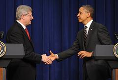 Стивен Харпер и Барак Обама