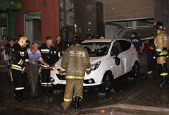 Сотрудники МЧС РФ ликвидируют последствия сильного ливня в Ростове-на-Дону, 30 июня