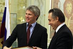 Павел Колобков и Виталий Мутко (слева направо)