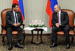 Президент Филиппин Родриго Дутерте и президент России Владимир Путин