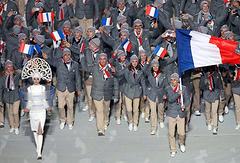 Сборная Франции на церемонии открытия зимних Олимпийских игр в Сочи