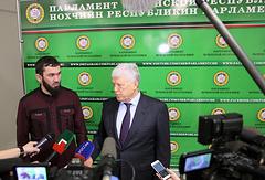 Председатель парламента Чечни Магомед Даудов и председатель Народного Собрания Республики Дагестан Хизри Шихсаидов