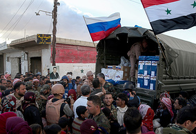 Humanitarian aid being distributed in Syria (archive)