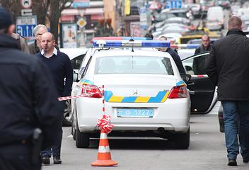 The site of Denis Voronenkov's murder, Kiev