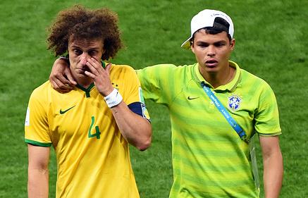 Три защитника сборной Бразилии вошли в символическую сборную ЧМ-2014 по версии болельщиков