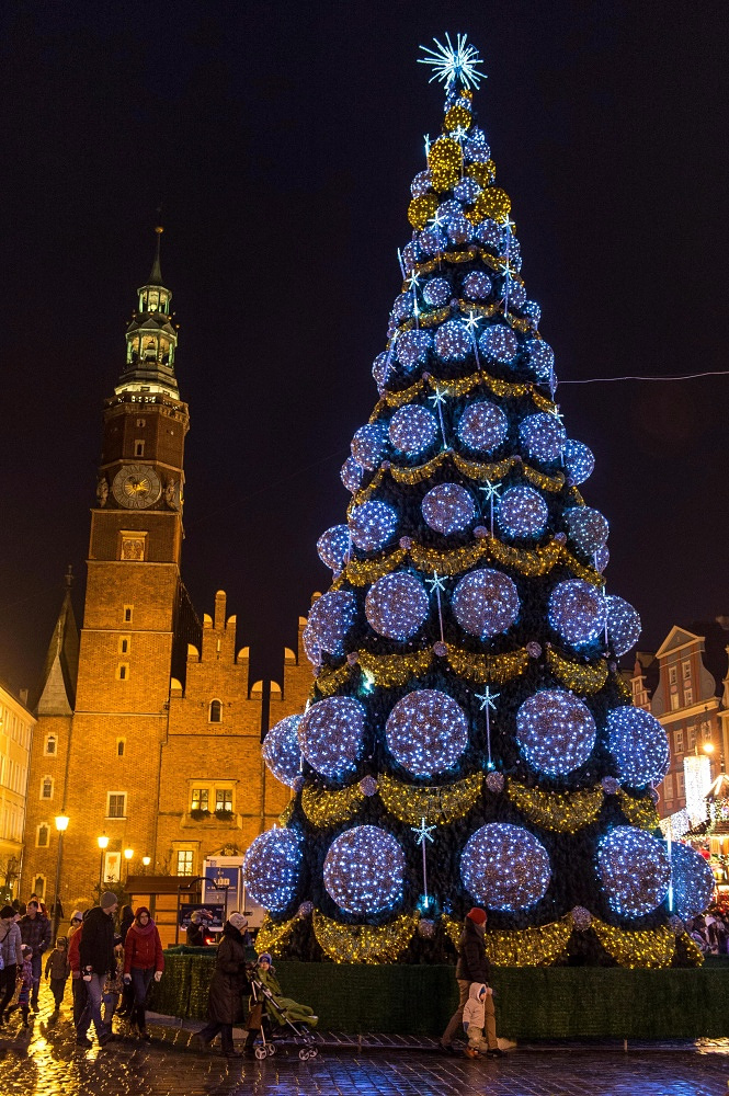 Christmas tree in Warsaw