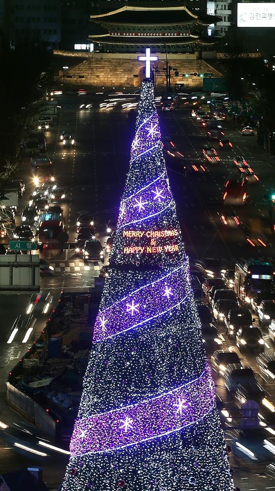 Christmas tree in Seoul