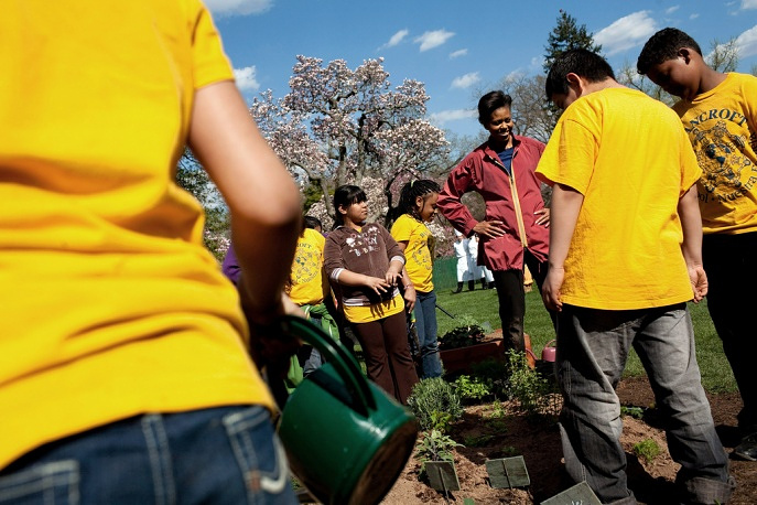 Michelle Obama planted a vegetable garden near the White House