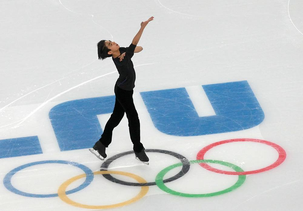 Training session at the Iceberg Skating Palace in Sochi where the main figure skating events of the 2014 Olympics are to take place
