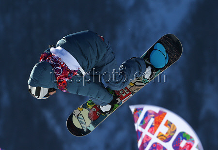 Russia's Alexey Sobolev making his attempt in men's slopestyle semi-finals. Unfortunately, Alexey didn't qualify for finals