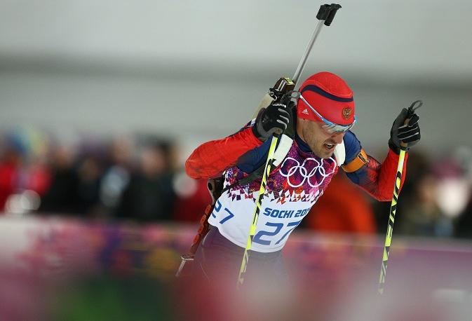 Russian biathlete Yevgeny Garanichev