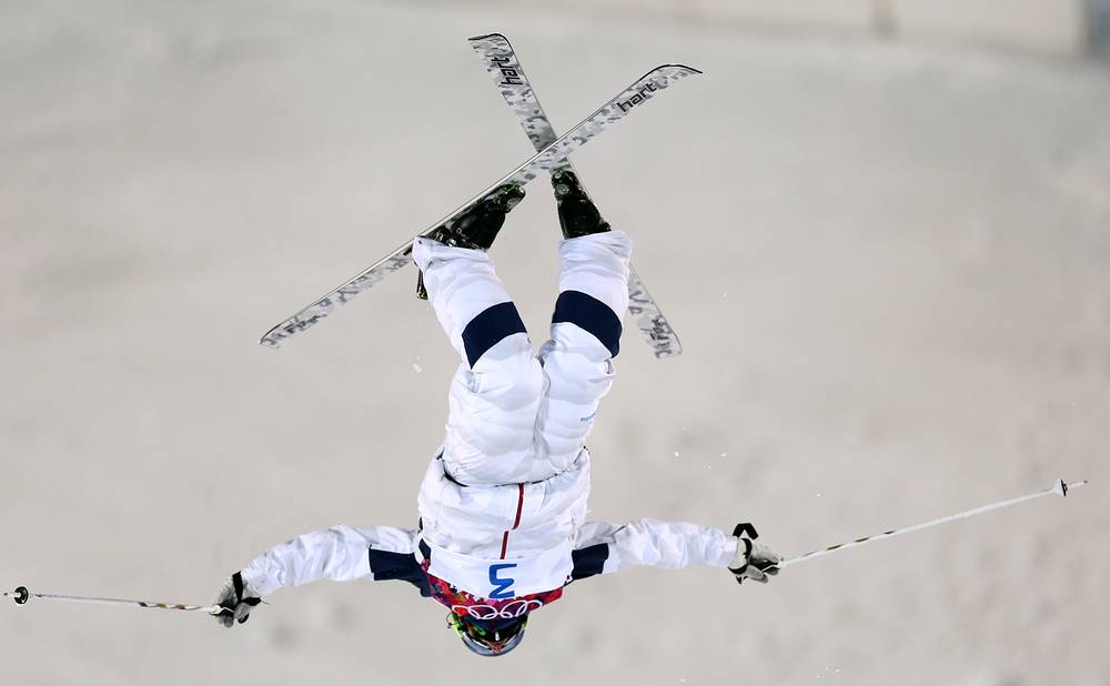 Patrick Deneen of USA in action during the Freestyle Skiing Men's Moguls Final at the Sochi 2014 Olympic Games