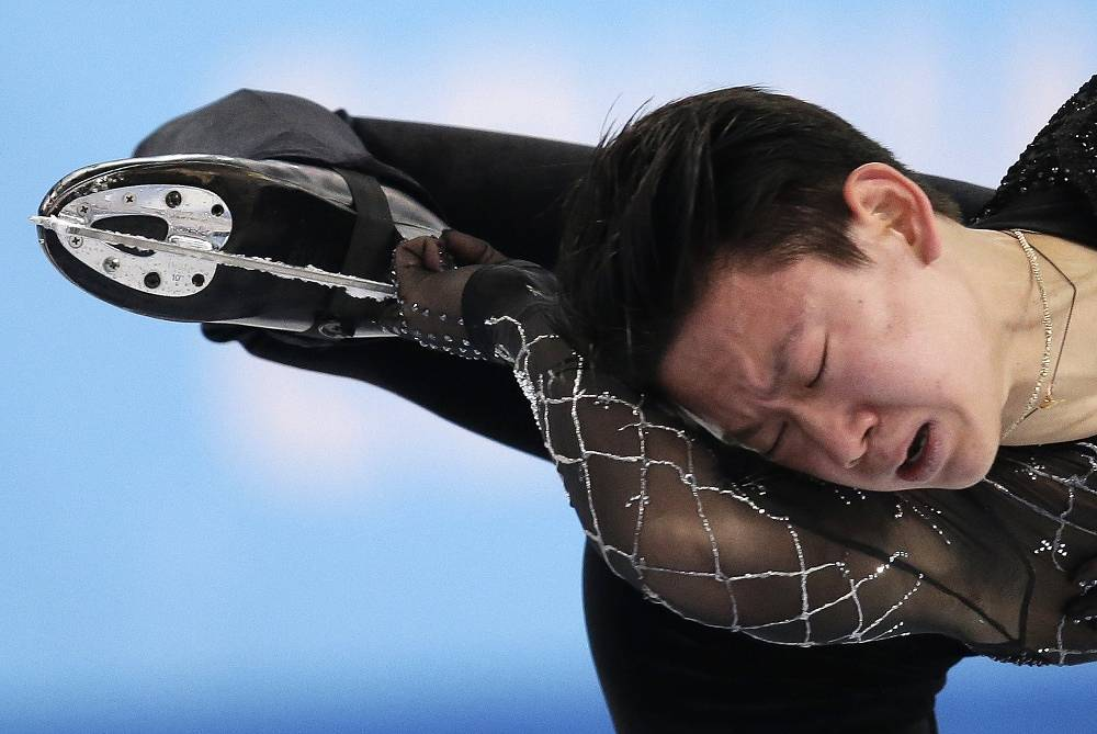 Kazakhstan's Denis Ten (84.06)