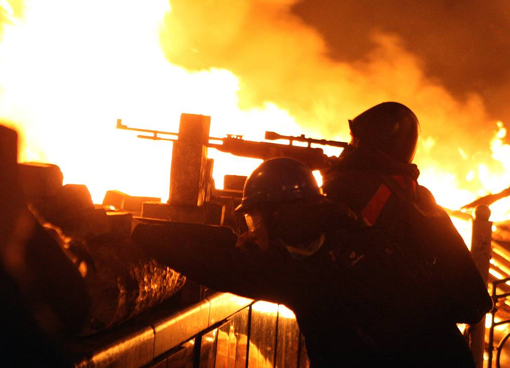 In this new wave of Ukraine's mass riots protesters tend to use air rifles more