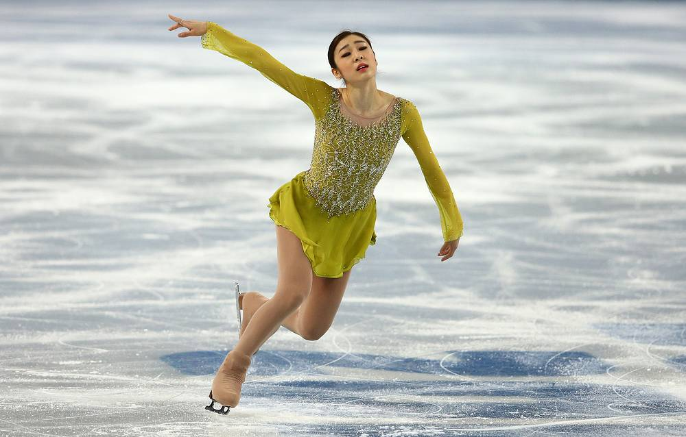 Kim Yuna of South Korea is first after her short program