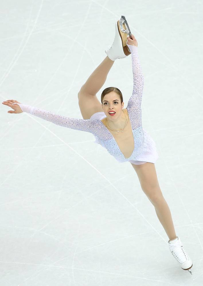 Carolina Kostner of Italy finished third