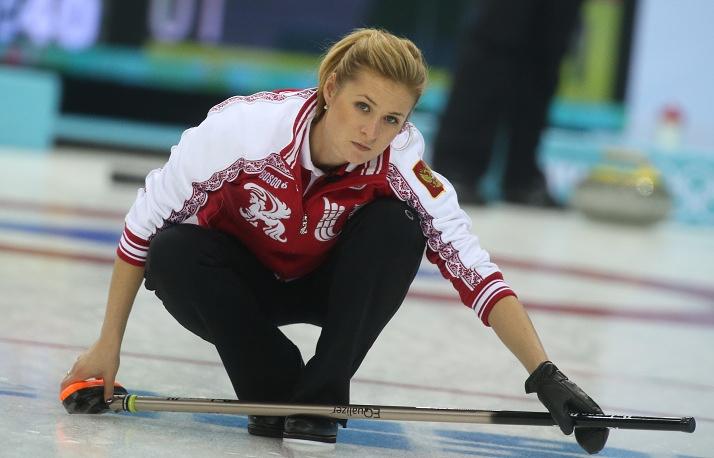 Russian curler Margarita Fomina (25)