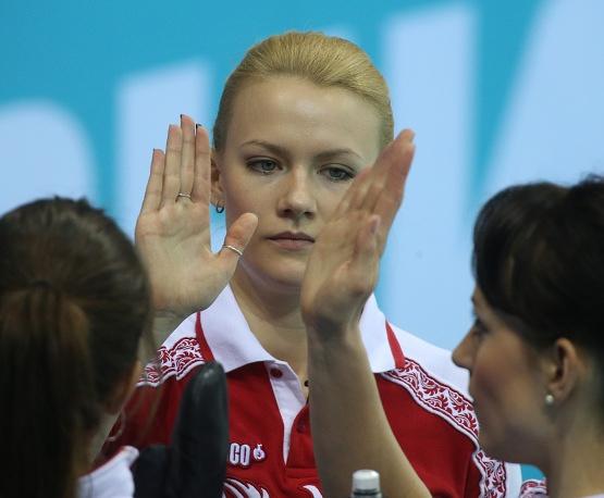 Russian curler Alexandra Saitova (21)