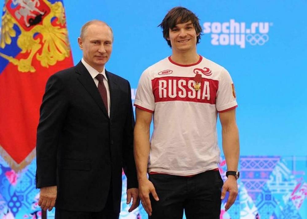 Vladimir Putin and snowboarder Vic Wild