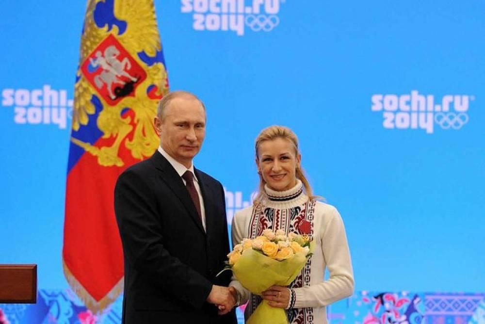 Vladimir Putin and Tatyana Volosozhar