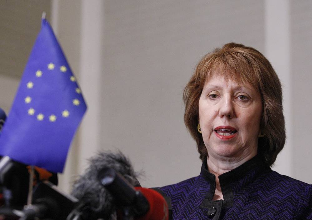 EU High Representative for Foreign and Security Policy Catherine Ashton
