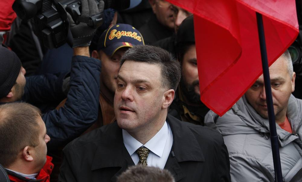 Svoboda party leader Oleh Tyahnibok
