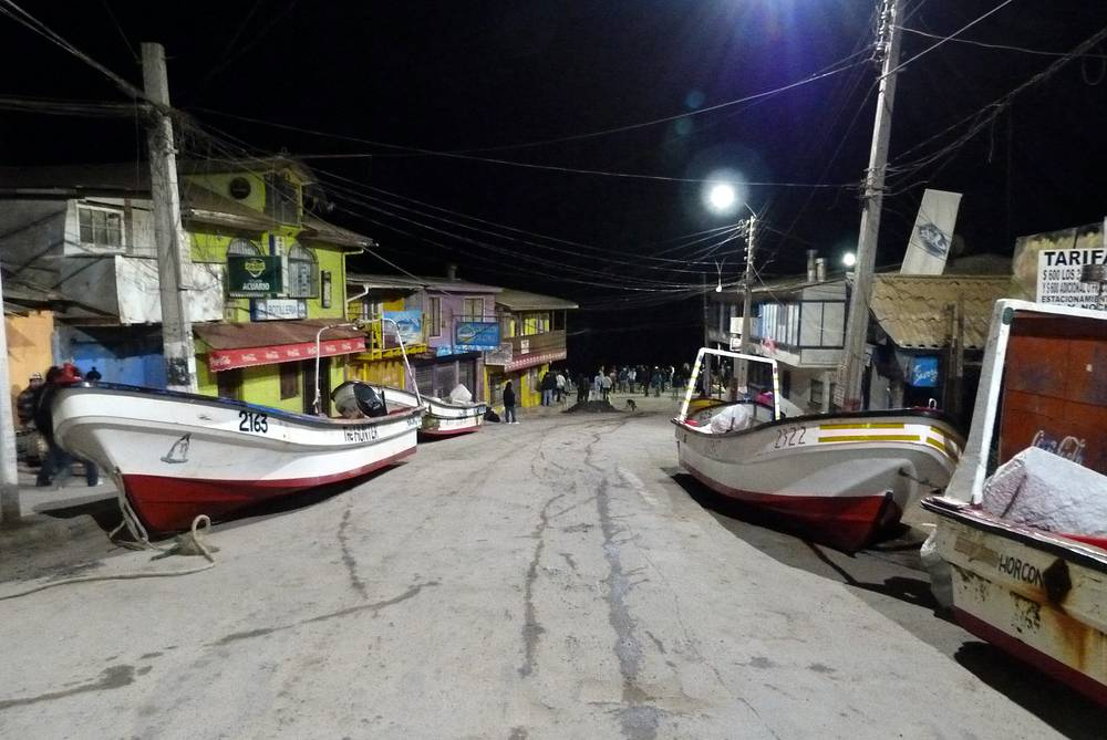 Fishing boats were removed from the water