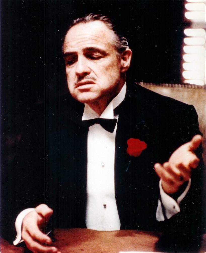 The role of Vito Corleone in Coppola's 'Godfather' (1972)  was Brando triumph: for that role he got his second Oscar award