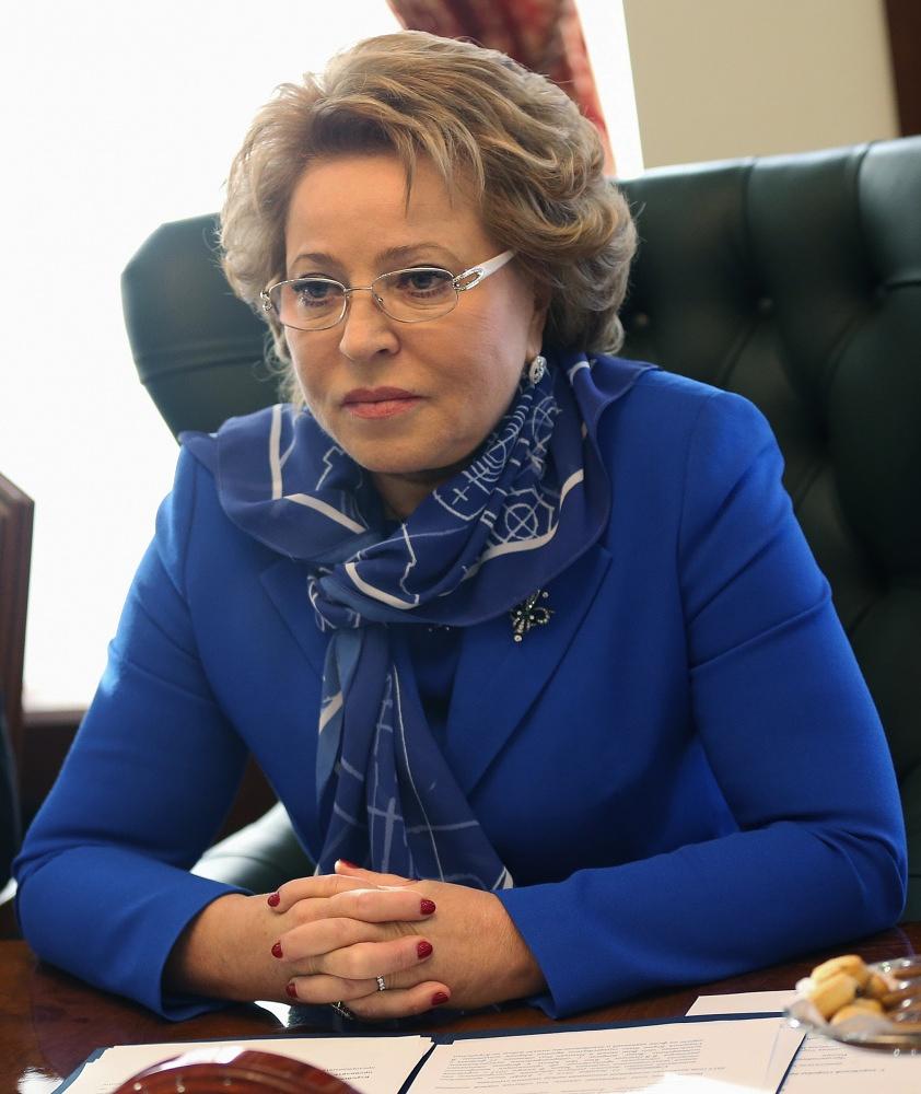 Chairwoman of the Federation Council Valentina Matviyenko