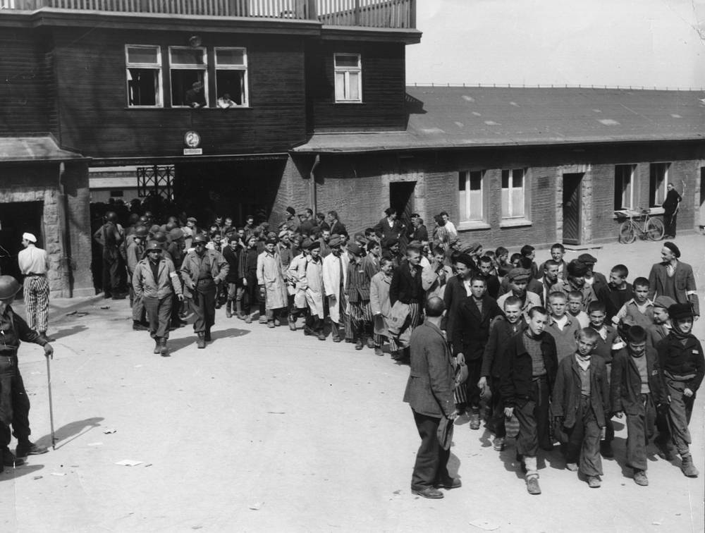 Buchenwald concentration camp liberation in April 1945