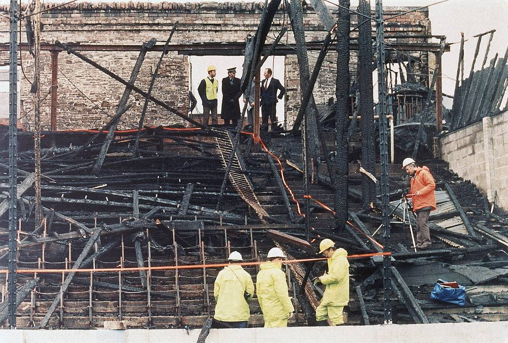 In 1985, a fire at Valley Parade Stadium in Bradford, England, killed 56 people
