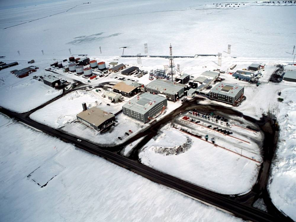 An oil extraction site in Alaska