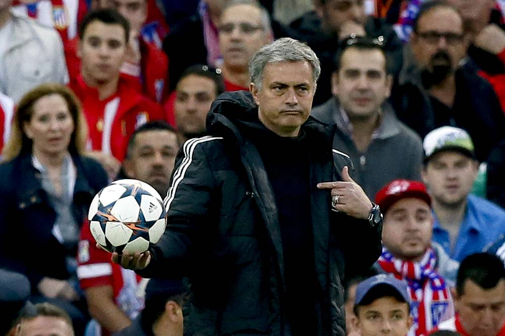 Chelsea's Portuguese head coach Jose Mourinho