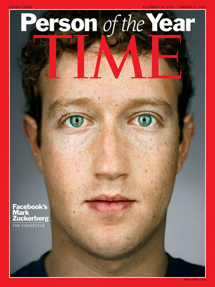 In 2010 Zuvkerberg became Time's person of the year