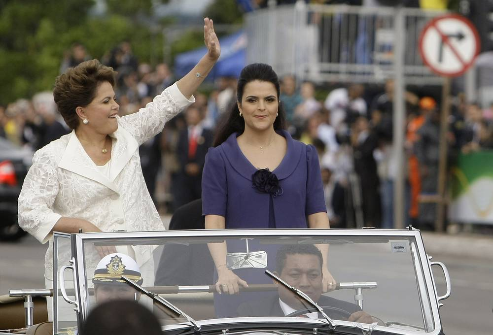 Brazil President Dilma Rousseff with her only daughter Paula Rousseff Araujo