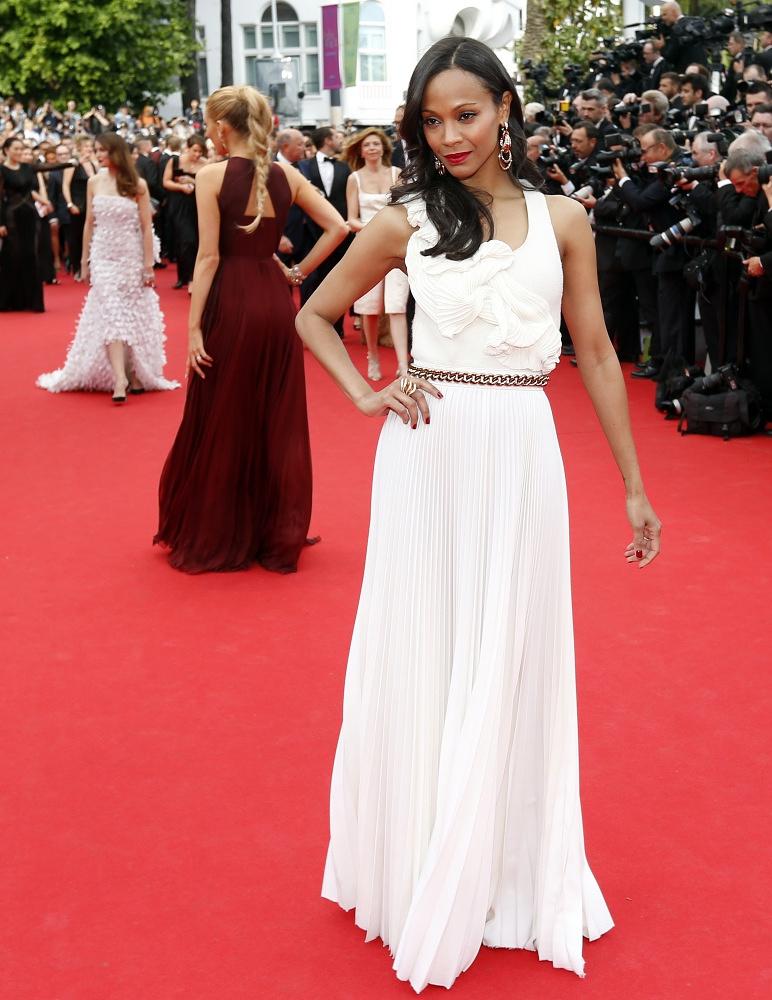 US actress Zoe Saldana
