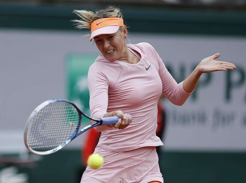 In the first round Maria Sharapova played against her compatriot Ksenia Pervak. Sharapova won 6-1, 6-2