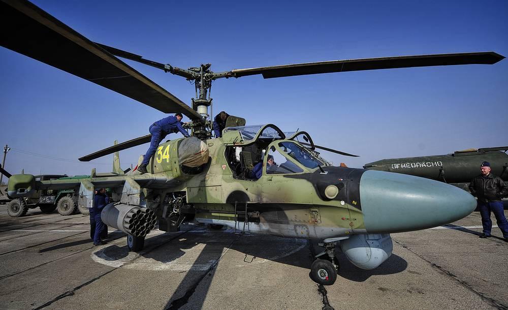 Kamov Ka-52 attack helicopter