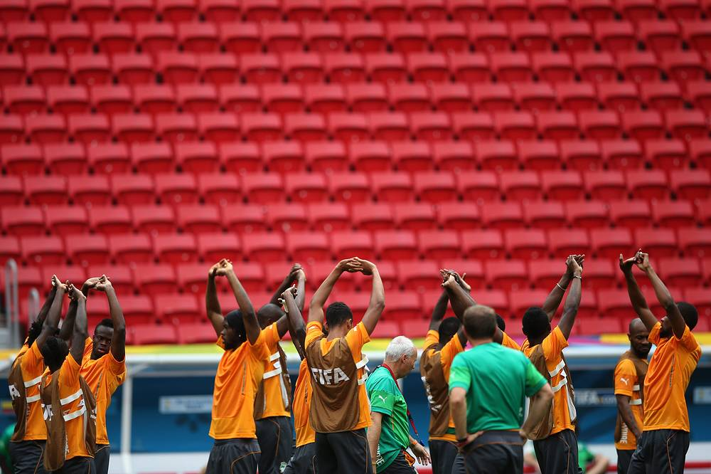 Cote d'Ivoire national team training session