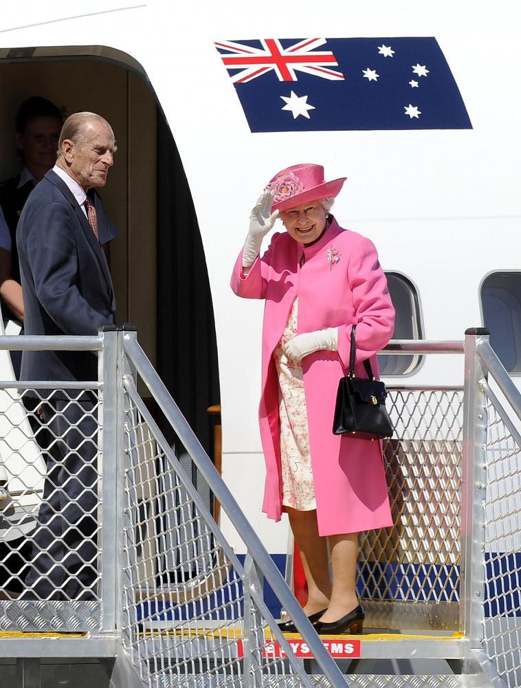 Queen Elizabeth and Prince Philipp in Melbourne