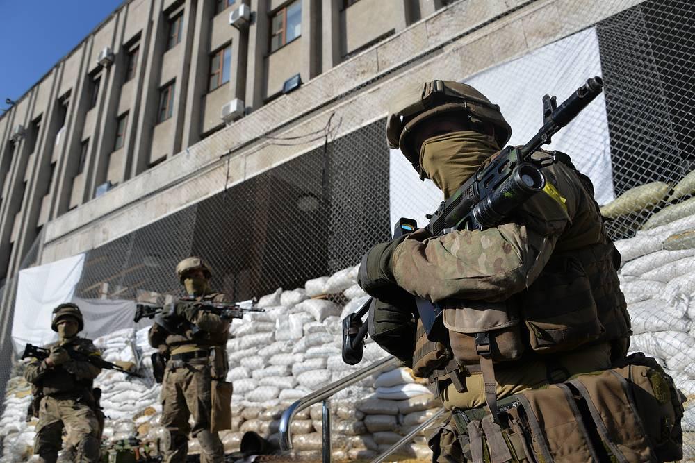 Ukrainian soldiers in Sloviansk destroyed in Sloviansk