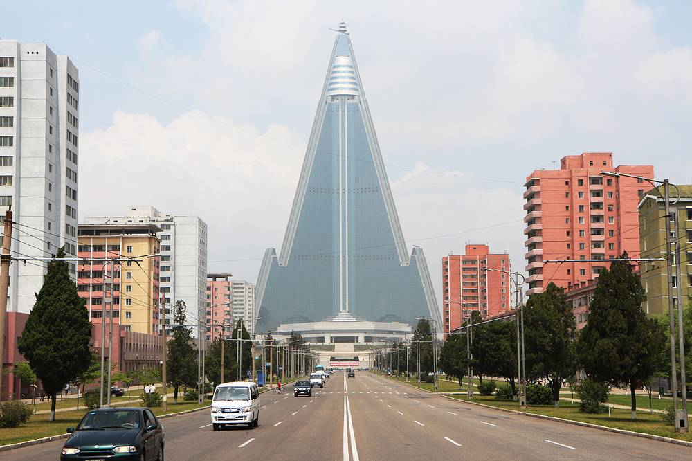 Ryugyong Hotel is the tallest building in Pyongyang and the seventh tallest in the world. The hotel is still not operational as the Kempinski company dropped out of the project fearing US sanctions
