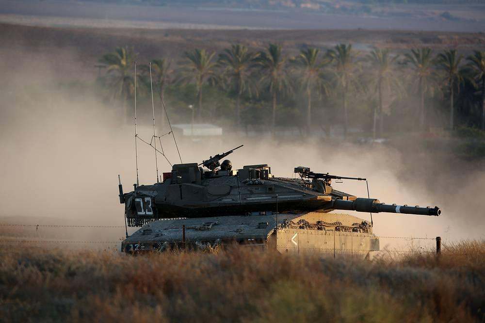 An Israeli Merkava tank